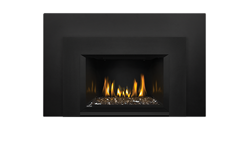 Napoleon Gas Fireplace Insert - Oakville Glass with Large 3-Sided Black Faceplate