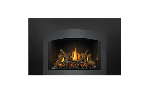 Napoleon Gas Fireplace Insert - Oakville X3 with Small Arched Charcoal Faceplate