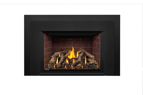 Napoleon Gas Fireplace Insert - Oakville X4 with Old Town Red Bricks