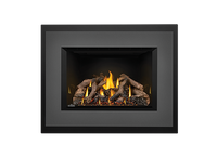 Napoleon Gas Fireplace Insert - Oakville X4 with 4-Sided Charcoal Faceplate