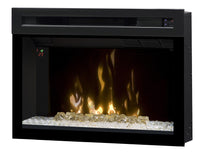"25"" Dimplex Electric Fireplace Insert Glass embers 