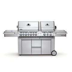 Napoleon Prestige Pro PRO825RSIB_SS Gas Grill with Rear and Side Infrared Burner Stainless Steel Doors and Lid
