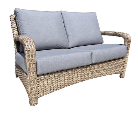 Pacific Deep Seat Loveseat by Cabana Coast - Drift Teak Flat