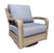 Pacific Deep Seat Swivel Glider Chair by Cabana Coast - Drift Teak Flat