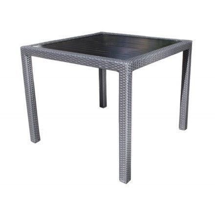 "Cabana Coast Piano 36"" Square Dining Table - Coffee / Dark Rum"