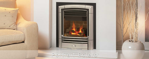 Valor Direct Vent Portrait Bolero Series Gas Fireplace - Log Set