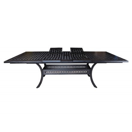 "Pure Dining Table - 72""-100"" Extending Table Frame: Foster Cast Aluminum"
