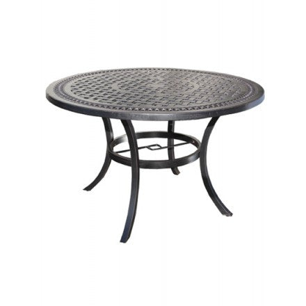 "Pure Dining Table by Cabana Coast - 48"" Round - Black"