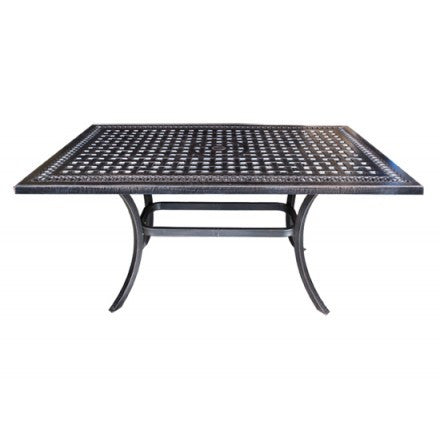 "Cabana Coast Pure Dining Table - 60"" Square Table Frame: Foster Cast Aluminum"