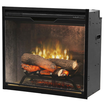 "Revillusion  24"" Weathered Concrete Firebox - Dimplex Electric Fireplace"