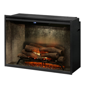 "Revillusion  36"" Weathered Concrete Firebox - Dimplex Electric Fireplace"