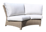 Riverside Sectional Curved Sofa Module by Cabana Coast - Drift Teak Flat
