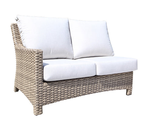 Riverside Sectional Left Module by Cabana Coast - Drift Teak Flat