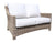 Riverside Deep Seat Loveseat by Cabana Coast - Drift Teak Flat