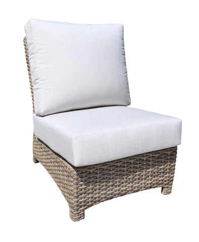 Riverside Deep Seat Slipper Chair by Cabana Coast - Drift Teak Flat