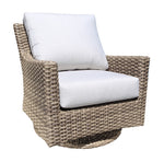 Riverside Deep Seat Swivel Glider by Cabana Coast - Drift Teak Flat