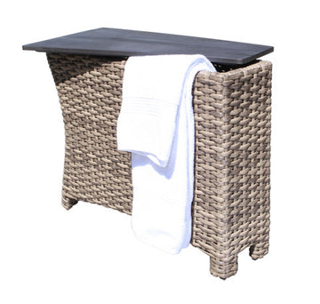 Riverside Storage Wedge Table by Cabana Coast