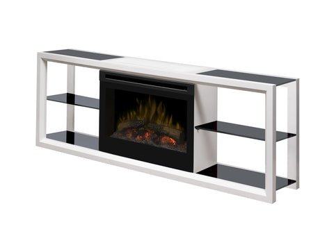 Dimplex Novara Media Console Electric Fireplace White | Patio Palace