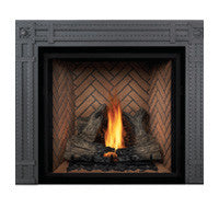 Napoleon Direct Vent Fireplace - HDX53 STARfire 52 - Rectangular Decorative Surround Wrought Iron Finish