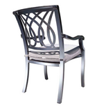 Cabana Coast Bloom Dining Arm Chair. Outdoor Dining Furniture
