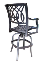 Cabana Coast Bloom Bar Stool. Deluxe outdoor patio furniture
