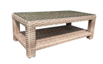 "Louvre Rectangular 48"" Coffee Table Drift Teak"