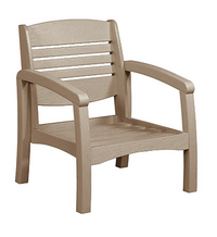 Bay Breeze Coastal Deep Seat Chair Beige #07