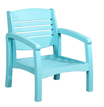 Bay Breeze Coastal Deep Seat Chair Aqua #11