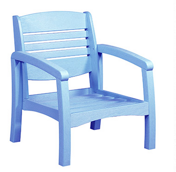 Bay Breeze Coastal Deep Seat Chair Sky Blue #12