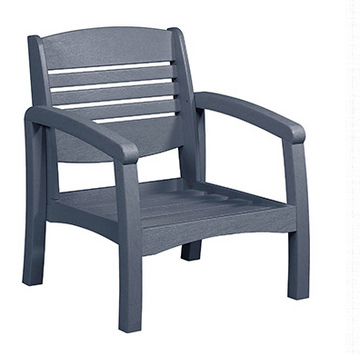 Bay Breeze Coastal Deep Seat Chair Slate Grey #18