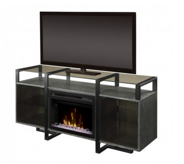 Milo Media Console Electric Fireplace