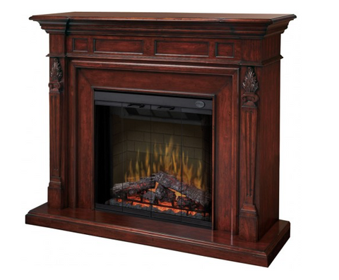 Torchiere Mantle- Dimplex Electric Fireplace