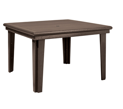 "T10 47"" Square Dining Table with Umbrella Hole"