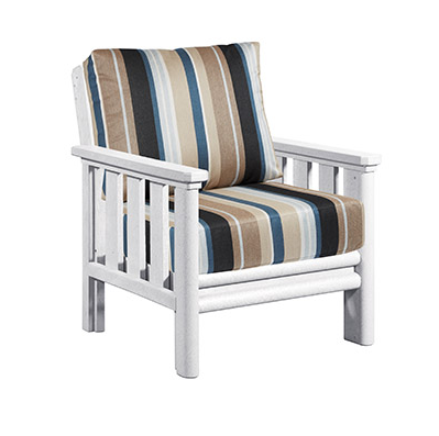Stratford Deep Seat Chair White # 02
