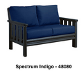 Stratford Deep Seat Love Seat - Black # 14