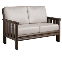 Stratford Deep Seat Love Seat - Chocolate # 16