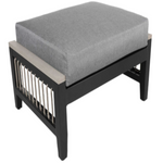 Cabana Coast Cove Ottoman. Rope Deluxe Patio Furniture.