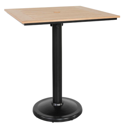 "Skye 36"" Square Pedestal Bar Table"