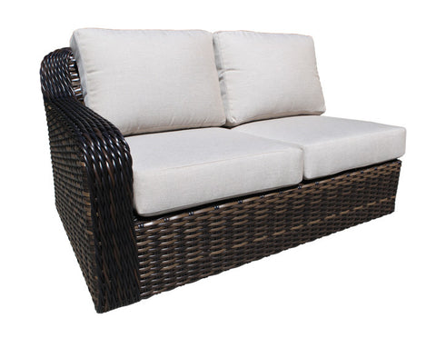 Seafair Deep Seat Sectional Left Module by Cabana Coast - Espresso Flat and 9mm Round
