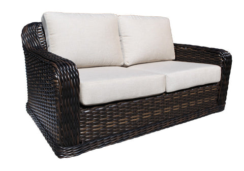 Seafair Deep Seat Loveseat by Cabana Coast - Espresso Flat and 9mm Round
