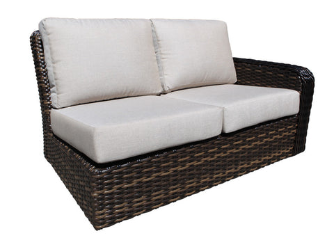 Seafair Deep Seat Sectional Right Module by Cabana Coast - Espresso Flat and 9mm Round