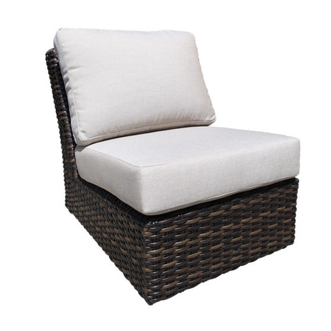 Seafair Deep Seat Slipper Chair by Cabana Coast - Espresso Flat and 9mm Round