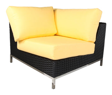 Sidney Sectional Corner Modue by Cabana Coast - Black