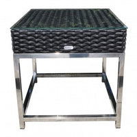 "Sidney 22"" Square Side Table by Cabana Coast - Black"