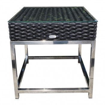 "Sidney 24"" Square Side Table by Cabana Coast - Black"