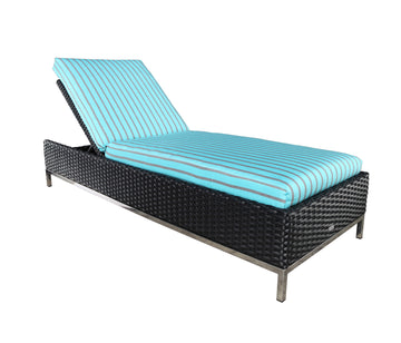 Sidney Armless Chaise Lounge by Cabana Coast - Black