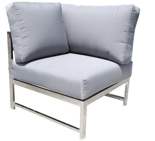 Cabana Coast Soho Sectional Corner Module - Stainless Steel