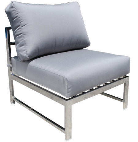 Cabana Coast Soho Sectional Slipper Module - Stainless Steel