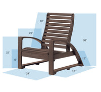 St. Tropez Lounge Chair by C.R.Plastic - measurements