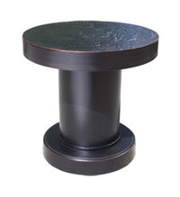"Venice Side Table by Cabana Coast - 18"" Round Dark Rum"